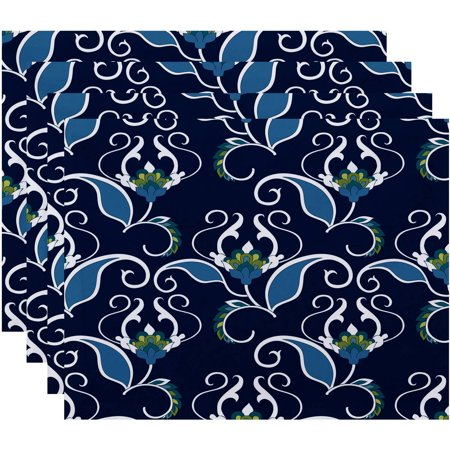 Simply Daisy 18  X 14  West Indies Floral Print Placemat  Set Of 4