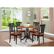 East West Furniture DLAV5-BCH-W 5 Piece Small Kitchen Table and Chairs Set-Kitchen Table and 4 Kitchen Chairs