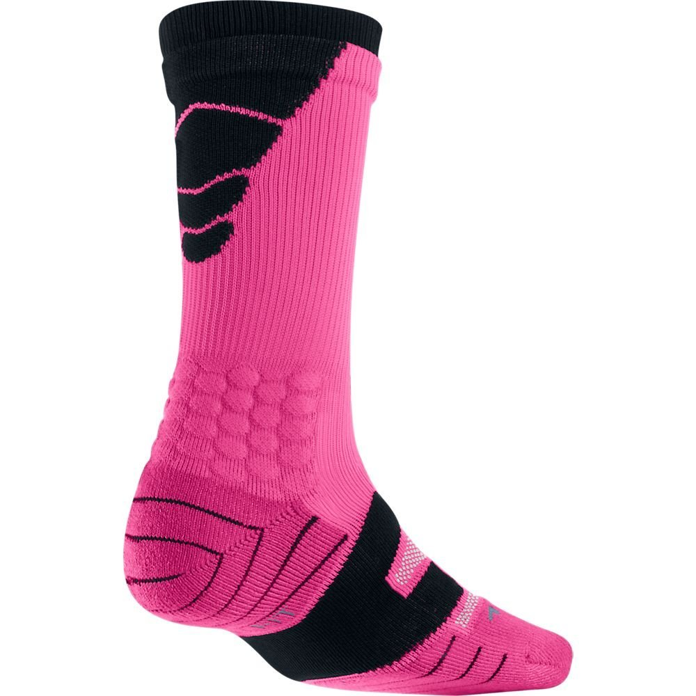 Nike Men's Elite Vapor Cushioned Football Socks, Pink/Bla...