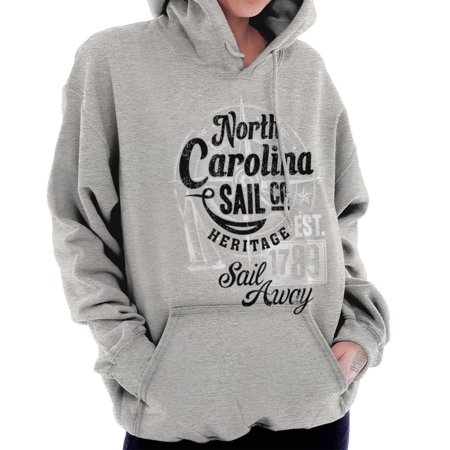 Brisco Brands - Brisco Brands North Carolina Sail Away Sea NC Pullover  Hoodie For Women - Walmart com