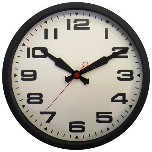 Elgin 10022816 16in Metal Station Wall Clock Perp