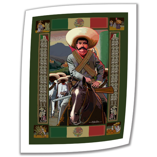 ArtWall 'Zapata' by Rick Kersten Vintage Advertisement on Unwrapped Canvas