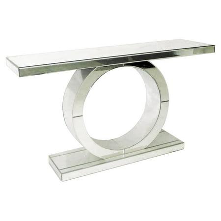 Pulaski Mirrored Ring Console Table