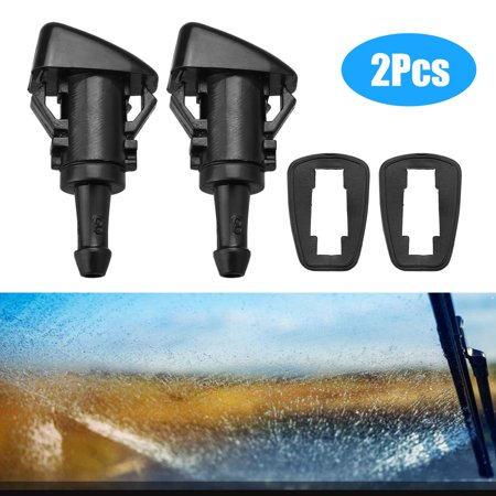 EEEkit Pack of 2 Windshield Washer Nozzle Sprayers Kit Front Windshield Washer Squirter Nozzle for Chrysler 300 Dodge Ram 1500 2500 3500 Dodge Caliber 2007-2012 2005-2010 Jeep Grand (1999 Jeep Grand Cherokee Windshield Washer Reservoir)