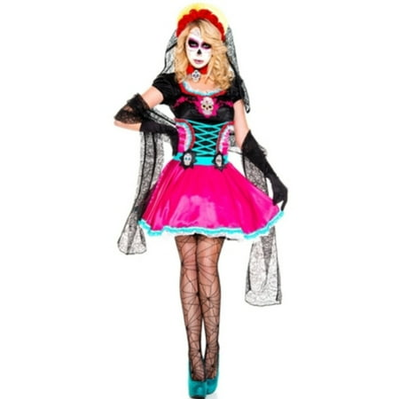 Dead Catrina Costume Music Legs 70816 Multi Color - Music Costumes Ideas