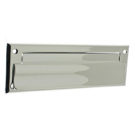 Idh by St. Simons 22111-026 Solid Brass Front Letter Mail Plate, Polished Chrome