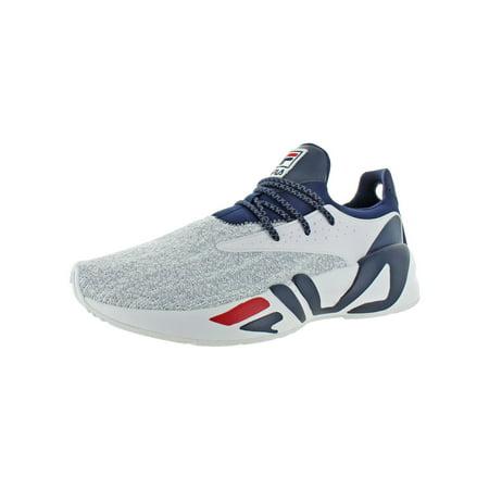 Fila Mens Mindbreaker Leather Workout Running Shoes White 13 Medium