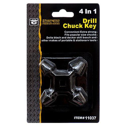 "4 in 1 Drill Press Chuck Key Size 3//8/"" /& 1//2/"" Chucks Universal Combination Hand"