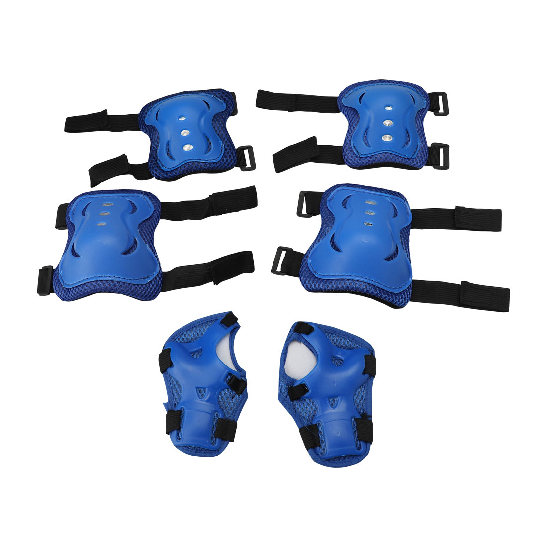 Unique Bargains 6 Pcs   Roller  Skating Wrist Elbow Knee Pad Set Protect Brace Support Guard Gear Blue