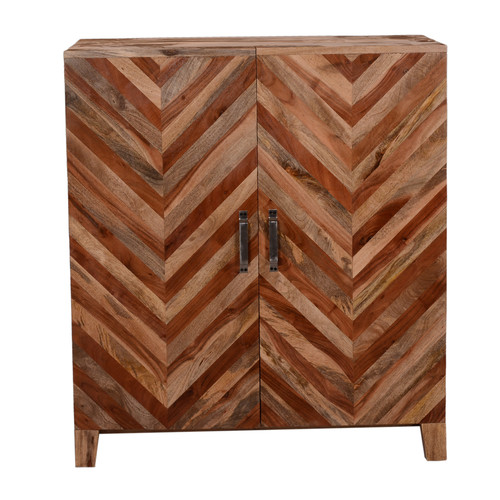 Oak Idea Imports Bar Cabinet