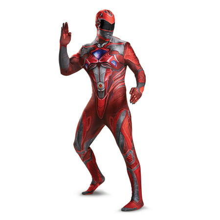 Power Rangers Saban Red Ranger Adult Mens Full Bodysuit - Power Ranger Onesie Adults