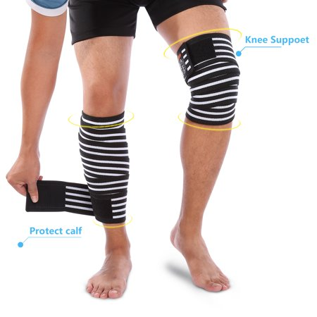 HURRISE Knee Patella Support Brace Wrap,Adjustable Knee Stabilizer Sleeve Cap Sports Protect - image 6 of 8