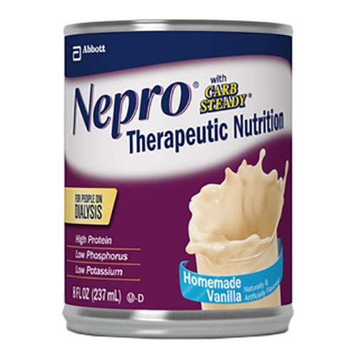 Nepro with Carb Steady, Homemade Vanilla, 8 oz. Institutional Carton - 1 Each