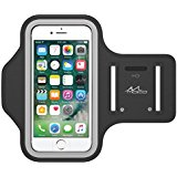 MoKo Armband for iPhone 7 _ iPhone 6s _ 6_ Sweatproof Sports Armband Running Arm Band for iPhone 7_ 6S_ 6_ 5S_