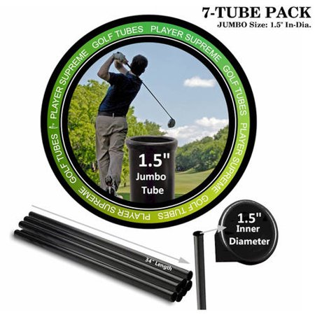 Golf Club Organizer (Player Supreme Golf Tubes/Dividers, 7-Pack, JUMBO, 1 1/2