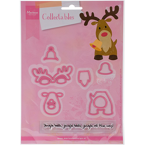 "Marianne Design Collectables Dies with Stamps, Eline's Reindeer, 2.25"" x 3"""