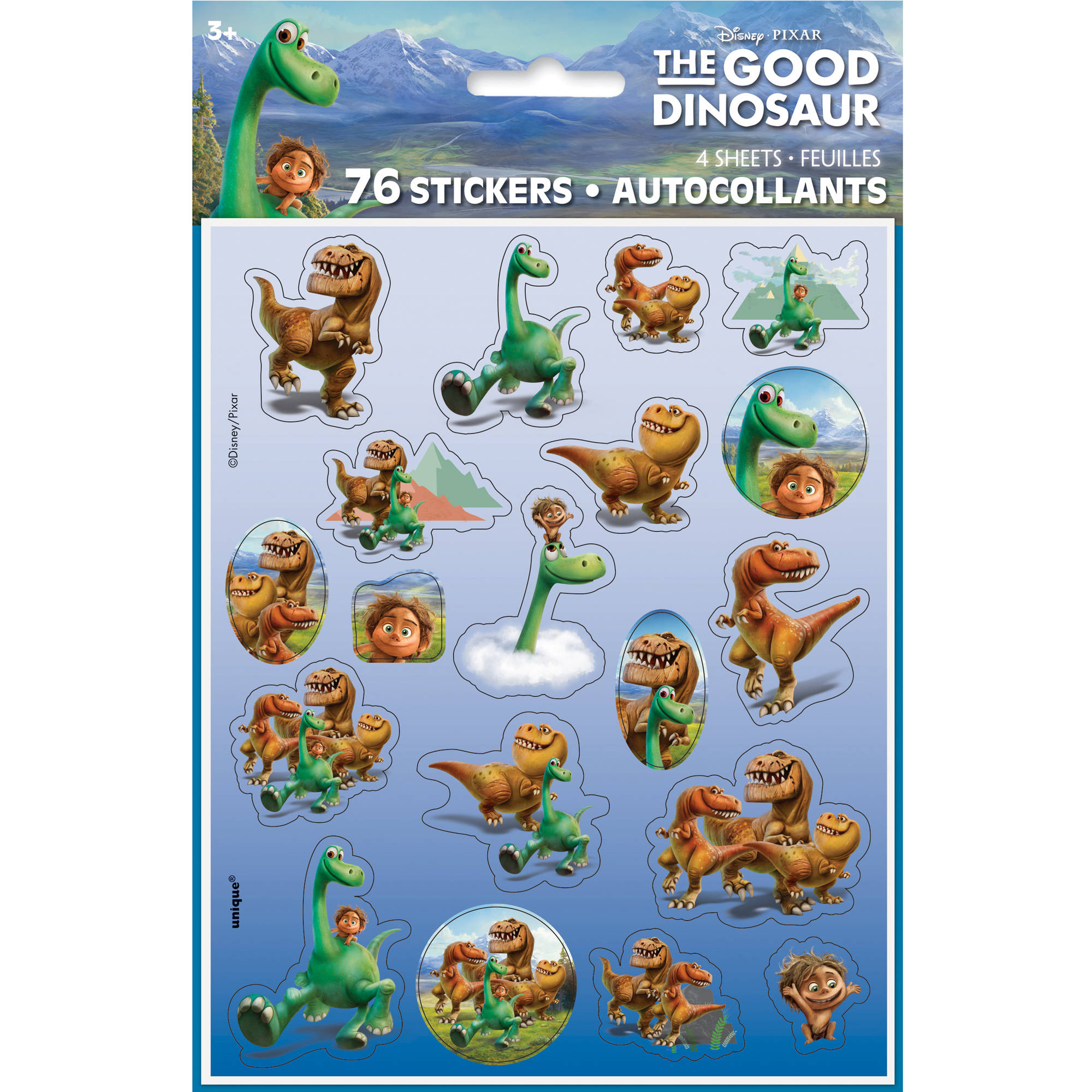 Good Dinosaur Sticker Sheets, 4ct