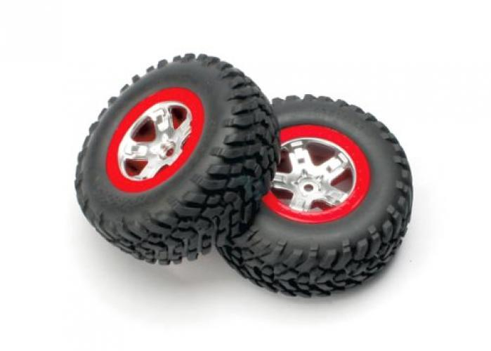 Traxxas 5873A Slash Rear Tires with wheels Assembled by