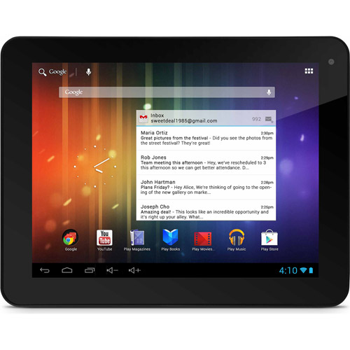 """Ematic EGP008PR Pro Series with WiFi 8"""" Touchscreen Tablet PC Featuring Android 4.1 (Jelly Bean) Operating System"""