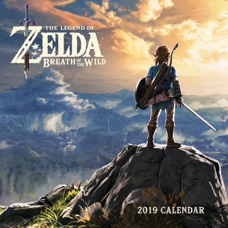 Legend of Zelda: Breath of the Wild 2019 Wall Calendar (All Shrines In Breath Of The Wild)