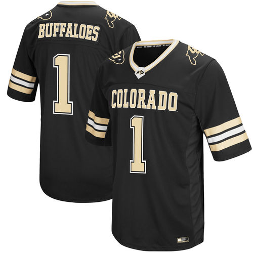 Men's Colosseum Black Colorado Buffaloes Hail Mary II Football Jersey