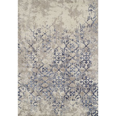 Dalyn Antigua Area Rugs - AN6 Transitional Casual Linen Curves Scrolls Distressed Vines Rug