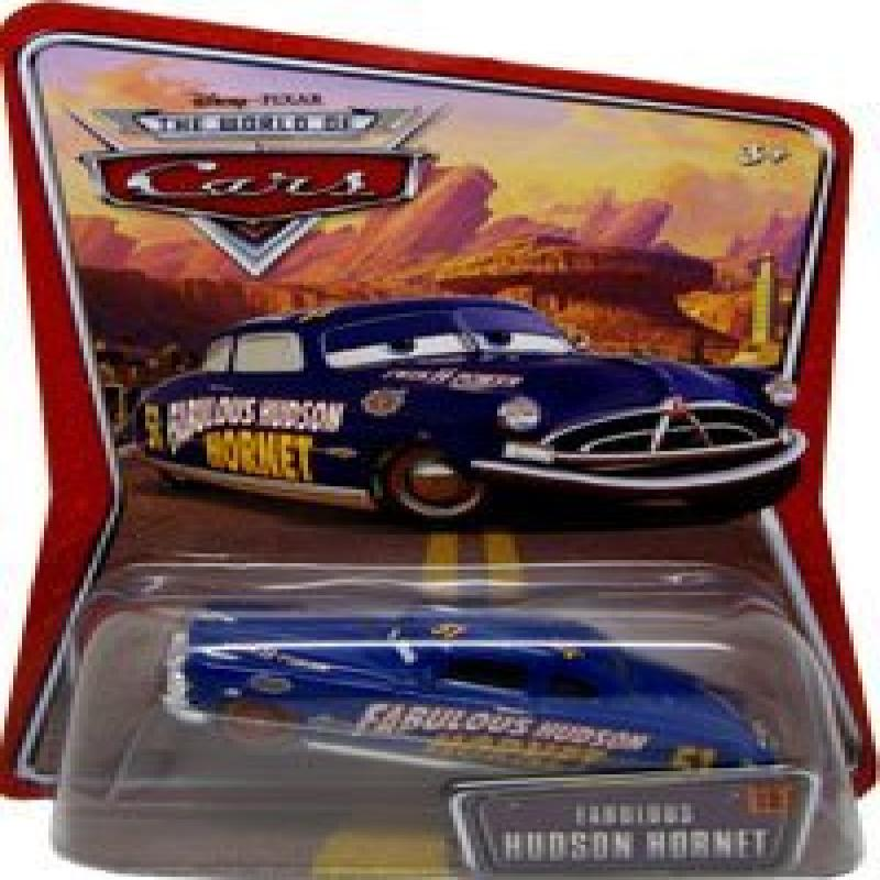 Disney Pixar Cars Fabulous Hudson Hornet Red Wheels World of Cars Background Edition... by