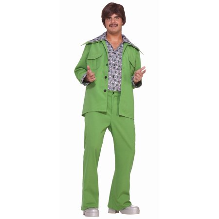 Polyester Leisure Suit (Halloween Leisure Suit - Green Adult)