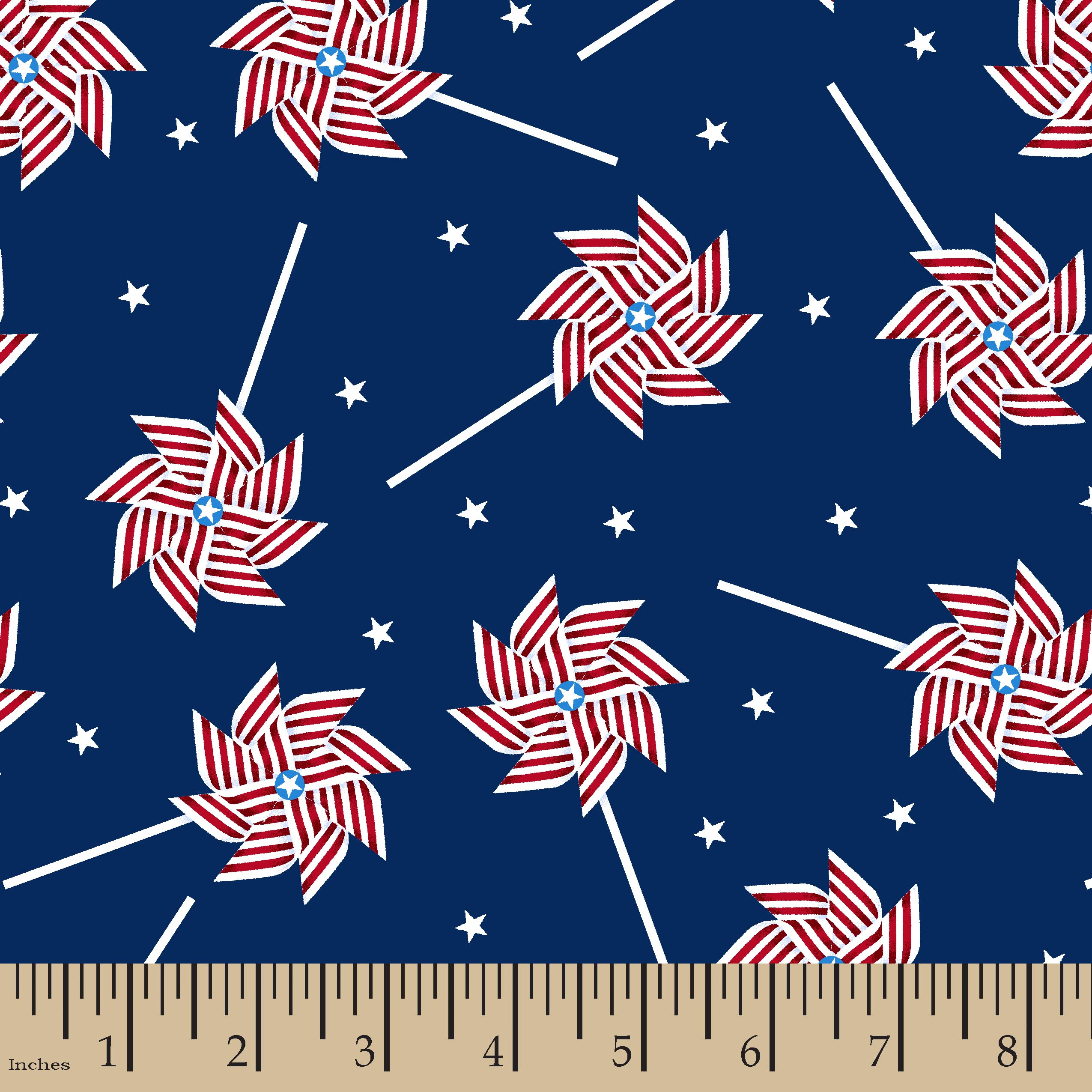 Patriotic Pinwheel Fabric by the Yard