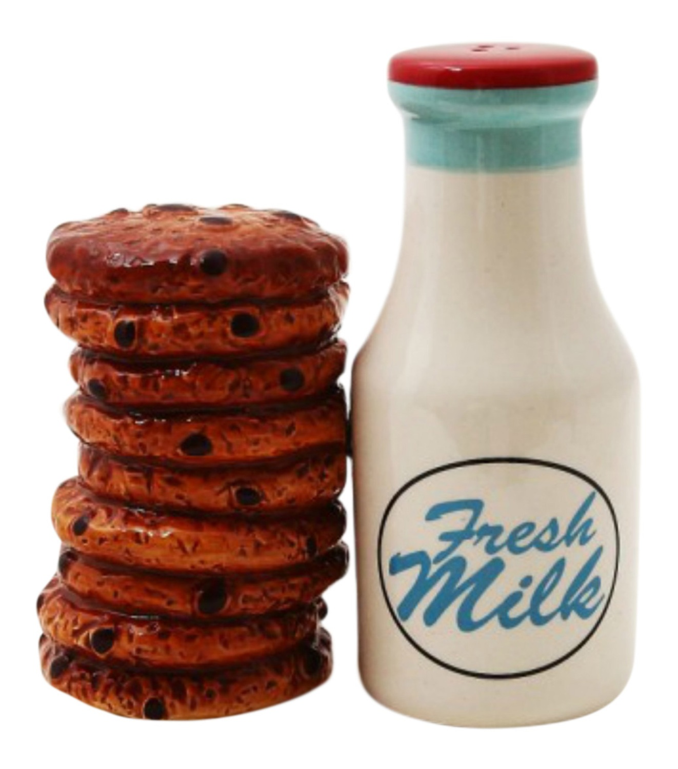 Milk and Cookies Salt and Pepper Shakers Set by Pacific Trading