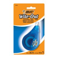 BIC Wite-Out Brand EZ Correct Correction Tape, Applies Dry, Fast and Easy to Use, White Out Tape, 1 Count