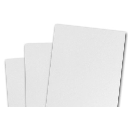 Blank Invitations - Blank Basis White 4x6 Flat Card Invitations - 50 Pack
