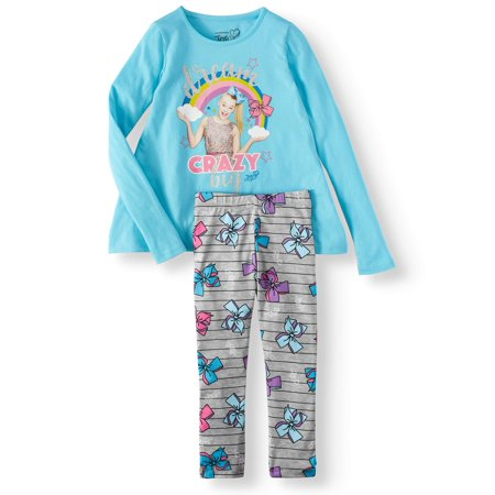 Skirted Legging Set (JoJo Siwa Sharkbite Graphic Tee and Legging, 2-Piece Outfit Set (Little Girls & Big Girls))