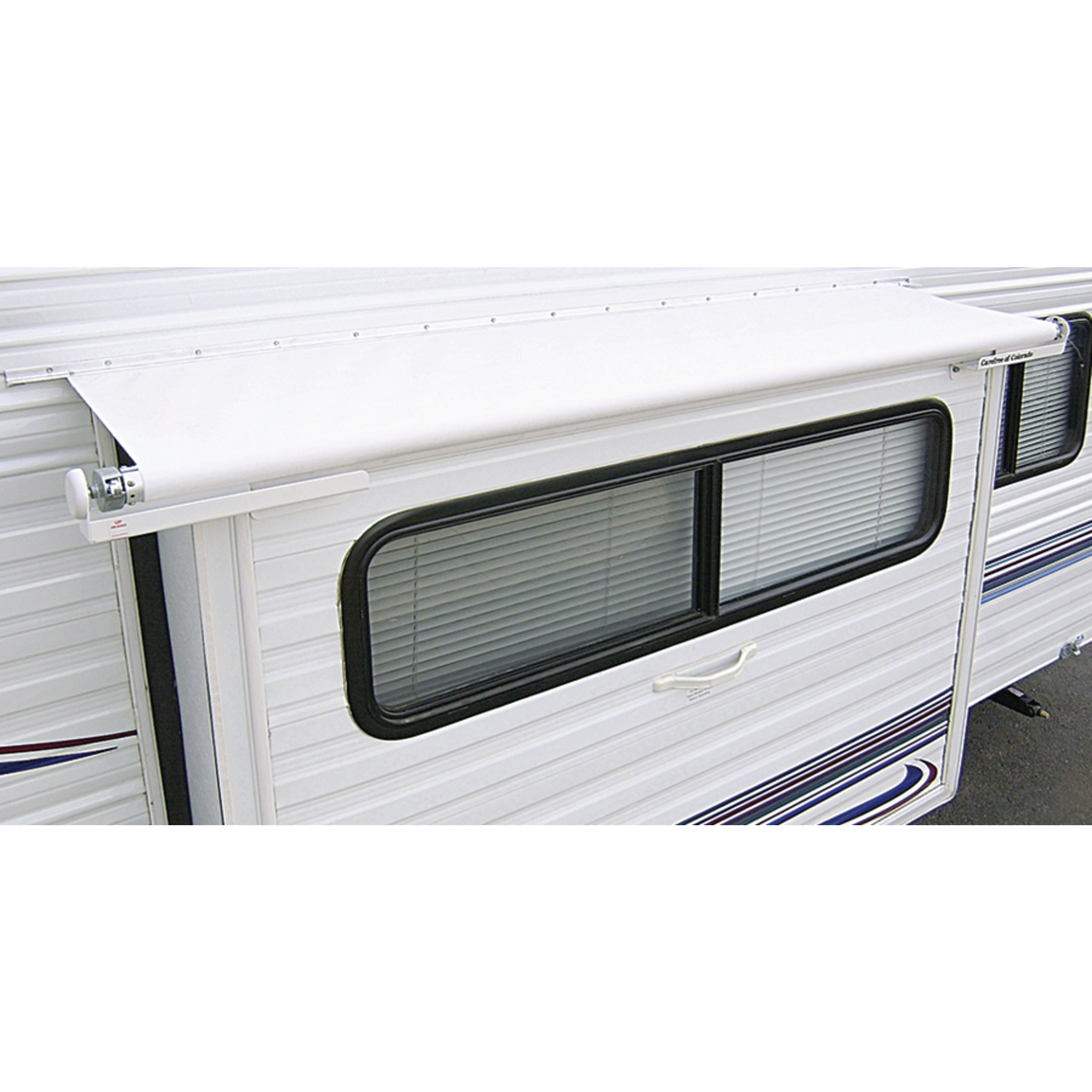 "Carefree DG1460042 White RV Slideout Awning Replacement Fabric - 146"" Canopy Length"