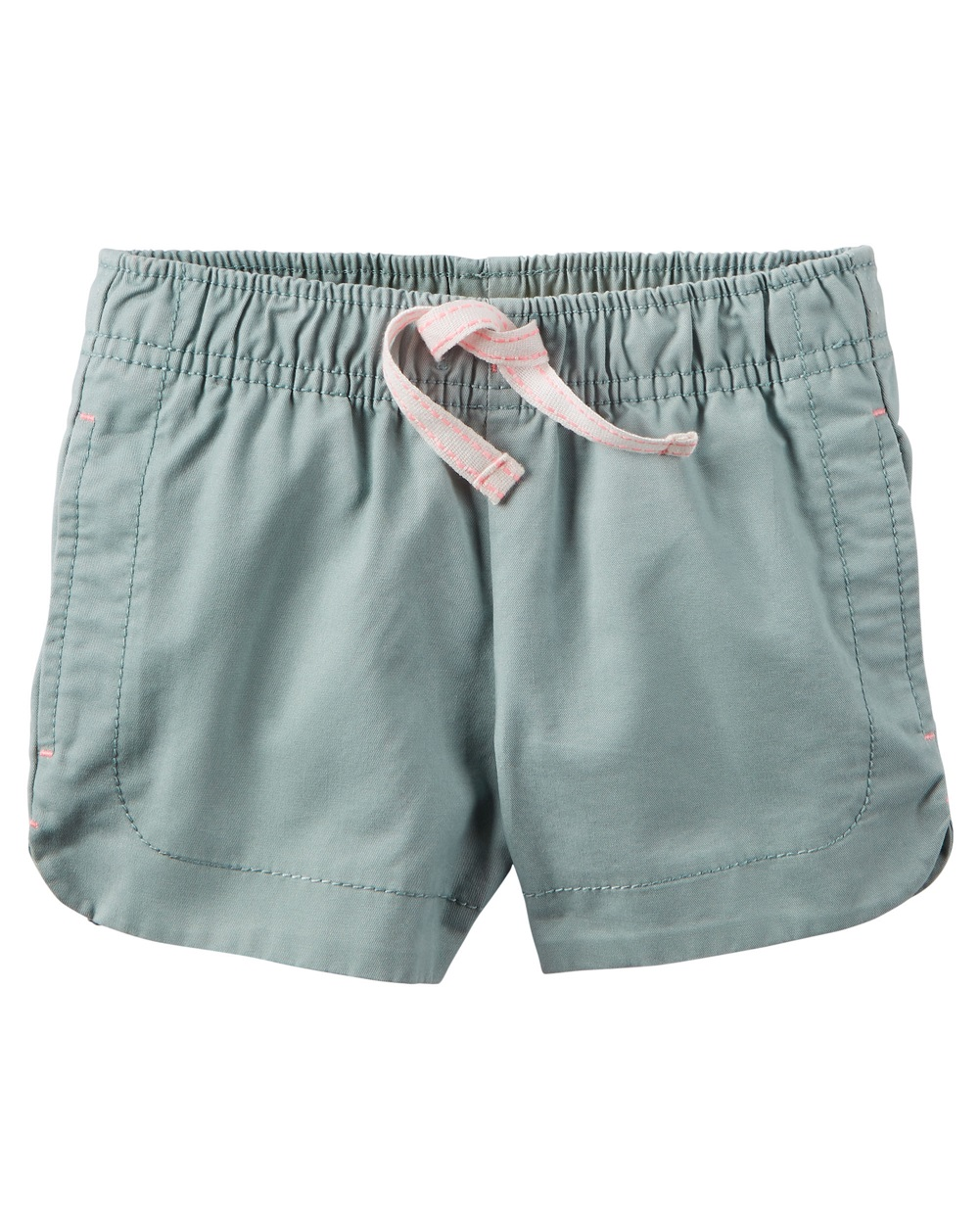 Carter's Baby Girls' Cinch-Up Twill Short, Olive, 3 Months