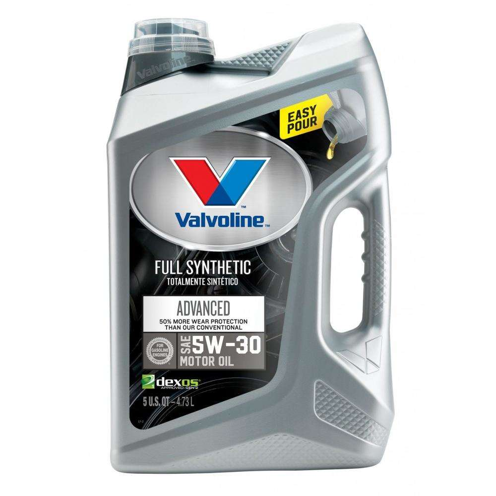 Valvoline Full Synthetic Advanced 5W-30 Motor Oil, 5 Quarts