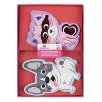 Way To Celebrate Puppy and Cat Valentine's Day Cards, 16 Count