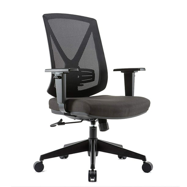 CLATINA Ergonomic High Mesh Swivel Desk Chair with Adjustable Height Arm Rest Lumbar Support and Upholstered Back for Home Office BIFMA Certified