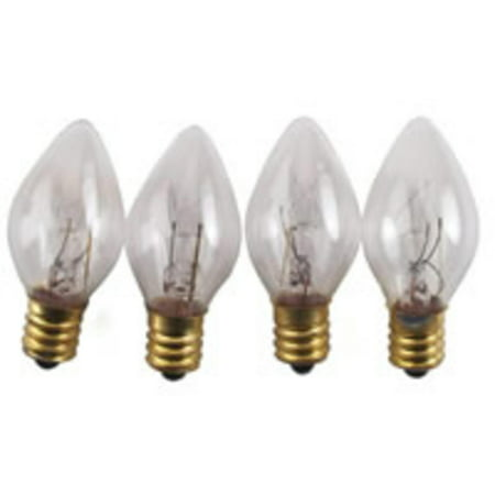 Club Pack of 100 C7 Clear Replacement Christmas Light Bulbs ...
