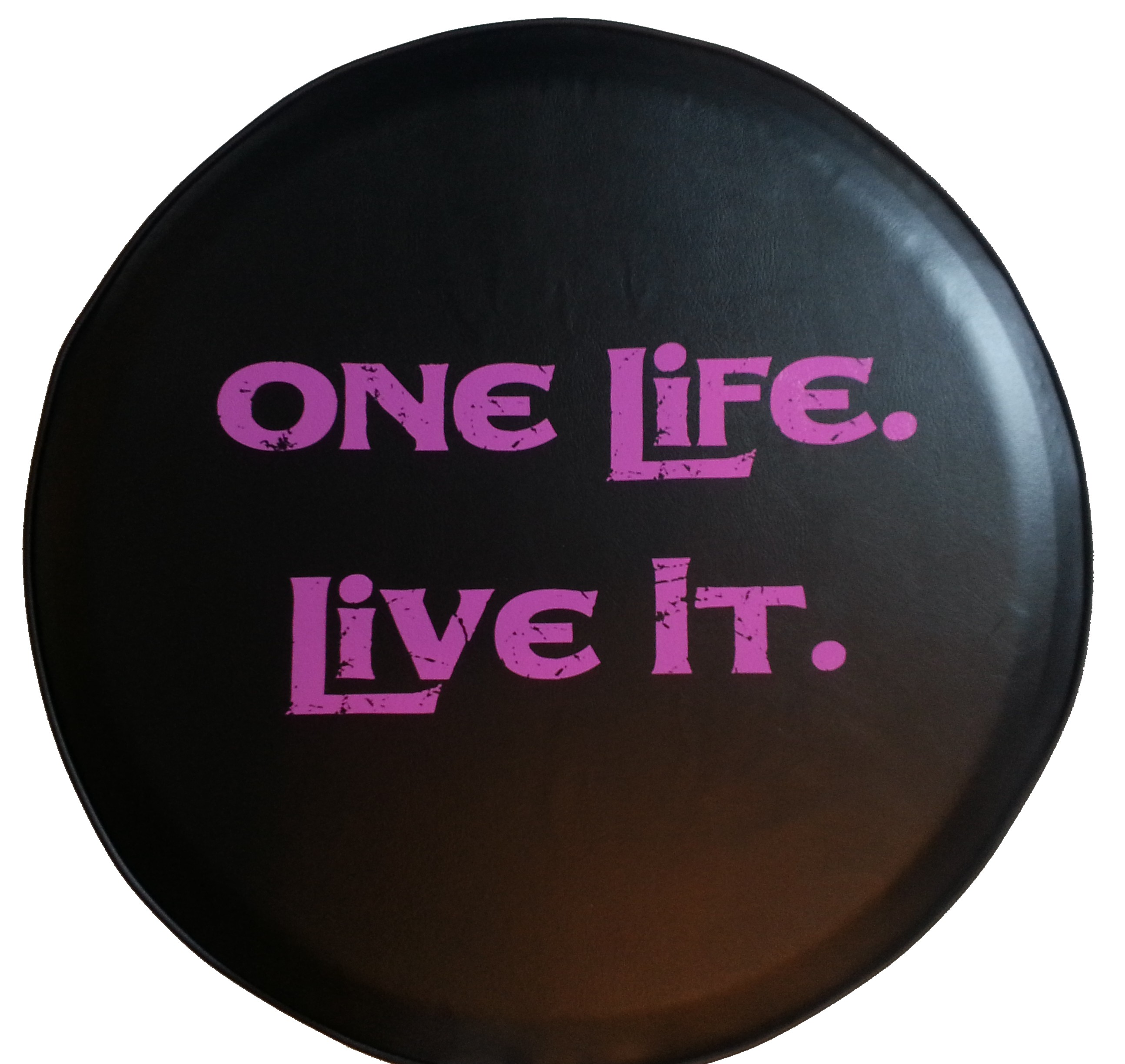"SpareCover ABC Series - One Life 28"" Tire Cover Pink"