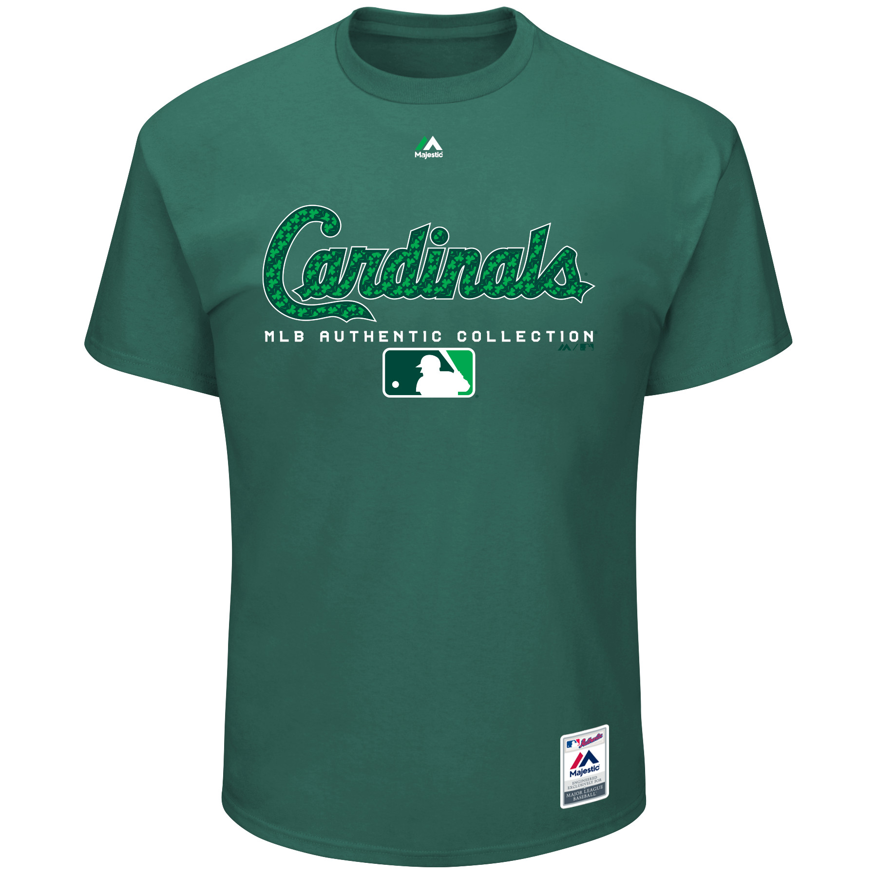 St. Louis Cardinals Majestic 2018 St. Patrick's Day Authentic Celtic T-Shirt - Green