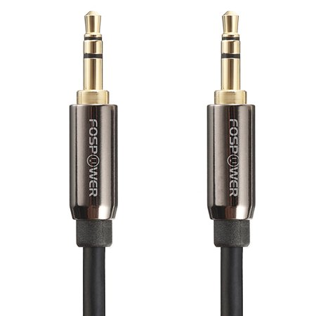 FosPower Premium Durable 3.5mm (M) to 3.5mm (M) Stereo Audio Aux Cable Cord Wire – 10FT