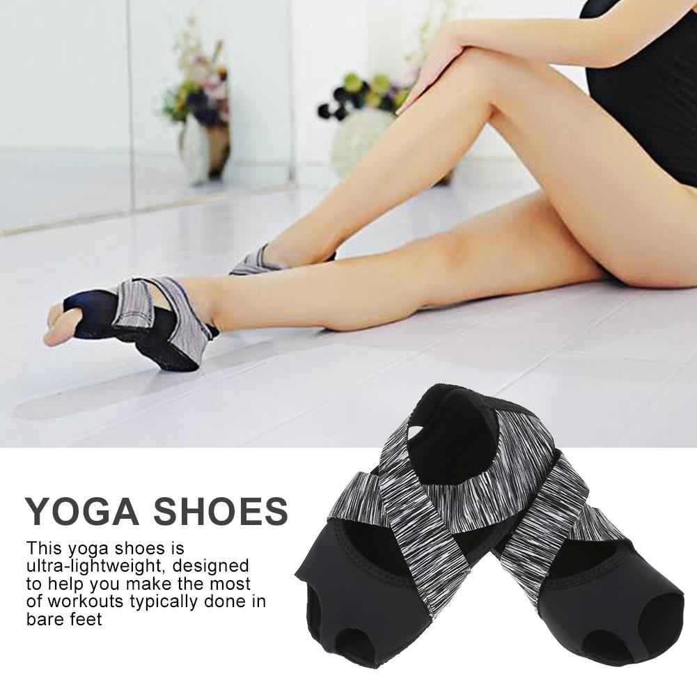 Yoga Non-slip Shoes,Ymiko Women Yoga Non-slip Pilates Barre Soft Wrap Dance Training Shoes Grey