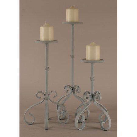Coast Lamp Mfg. 3 Piece Iron Candle Stand Set
