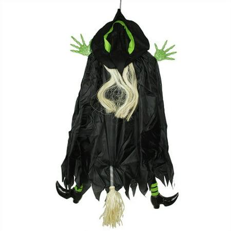 Northlight Seasonal Humorous Crashing Witch Hanging Halloween Decoration - Humorous Halloween Headstones