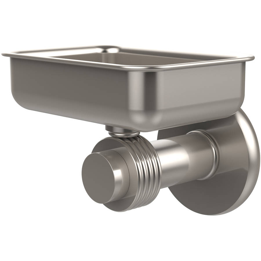 Mercury Collection Wall-Mounted Soap Dish with Groovy Accents (Build to Order)