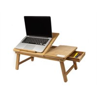 Mind Reader Bamboo Laptop Desk Bed Tray, Brown