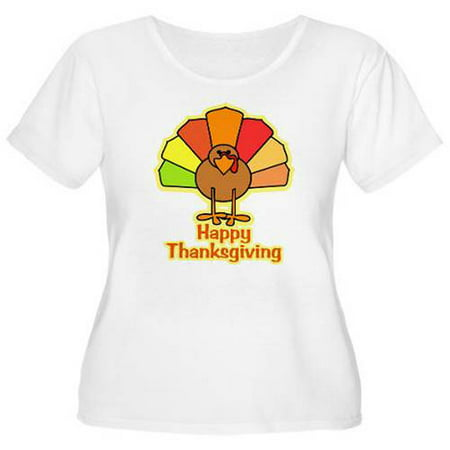 d7573b11fca Cafepress - Women s Plus-Size Happy Thanksgiving Turkey T-Shirt -  Walmart.com
