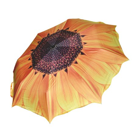 All clearance Umbrellas, Windproof Sunflower Design Compact Folding Umbrellas with Anti-Slip Rubberized Grip, for Business and Travels or Summer Wedding Gifts