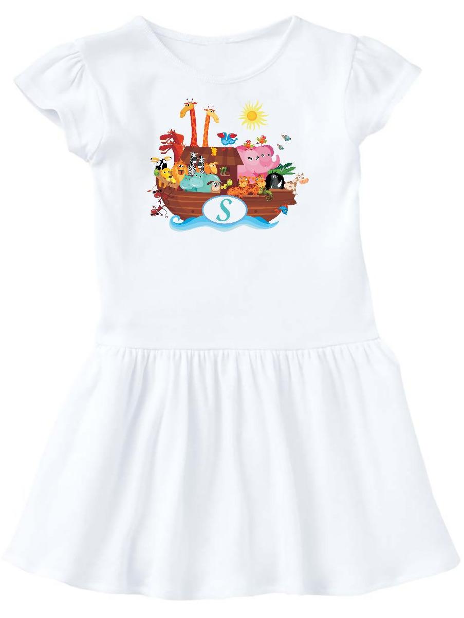 Noah's Ark Letter S Monogram Toddler Dress